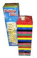 Игра деревянная Блоки или Дженга 54 бруска +кубик