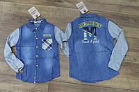 Джинсовая рубашка для мальчиков 4- 6 лет