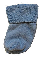 Махровые носки для новорожденных голубого цвета