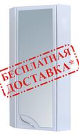 Шкаф для ванной навесной угловой 30-011 зеркало правый