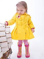 Плащ для девочки весенний влагостойкий  (желтый с бантиками)