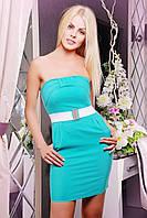 Изящное женское платье  IR Персик; цвета: бирюза | голубой | коралл