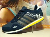 Кроссовки Adidas (адидас) FEATHER сине-желтые 41 р.