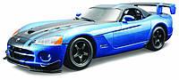 Авто-конструктор Bburago - DODGE VIPER SRT10 ACR (2008) (голубой металлик, 1:24)