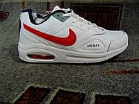Женские повседневные кроссовки NIKE Air Max белые с красным