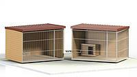 Вольер для собаки цельный (8 м.кв), 4х2х1,9 м
