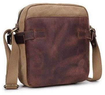 Мужская сумка - мессенджер Bug с кожаными вставками M6881