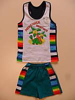 Майка и шорты для мальчика  4 - 5лет