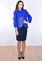 Синяя модель пальто «Колокольчик»