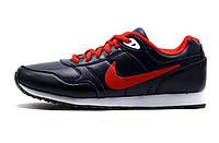 Кроссовки унисекс Nike, темно синие с красным, р. 38 40 41, фото 1