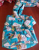 Детская куртка демисезонная (осень/весна)  мальчик мишки
