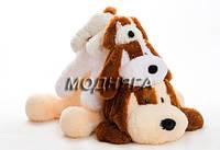 Мягкие игрушки собачки | Лежачая мягкая собачка 50см