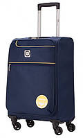 Вместительный маленький чемодан на 4-х колесах 33 л. HAUPTSTADTKOFFER mitte lite mini blue синий