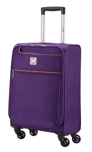 Маленький дорожный тканевый чемодан 33 л. HAUPTSTADTKOFFER mitte lite mini lila лиловый
