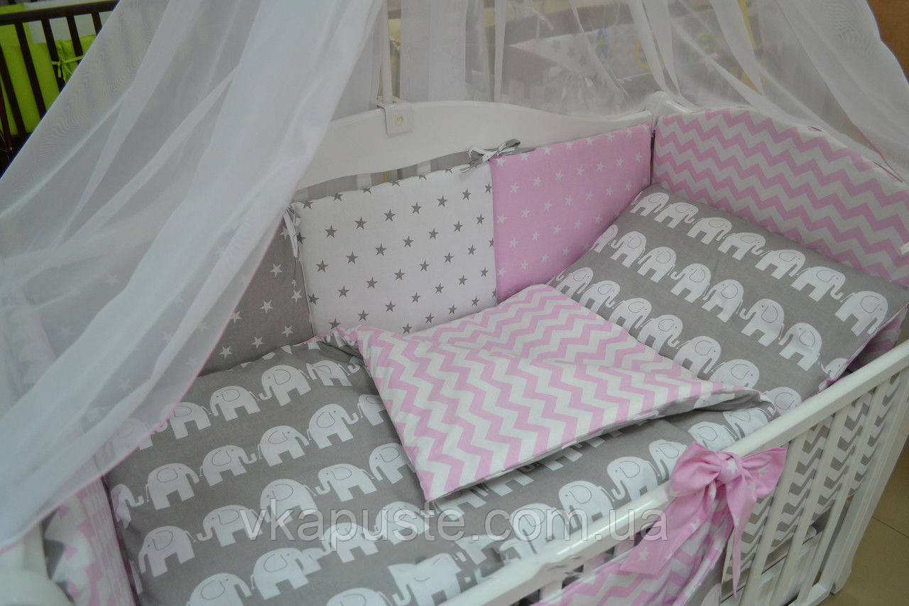 Комплект постельного для новорожденного своими руками