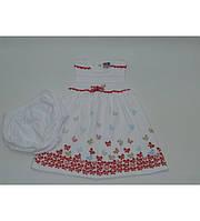 Трикотажное платье для девочки 0-1 года
