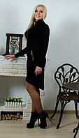 Платье женское с молниями  черное, фото 1