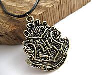 Герб Значок Хогвартс из Гарри Поттера Кулон на цепочке (Слизерин, Гриффиндор, Когтевран)