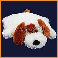 Подушка игрушка собачка 55см   Плюшевые игрушки подушки