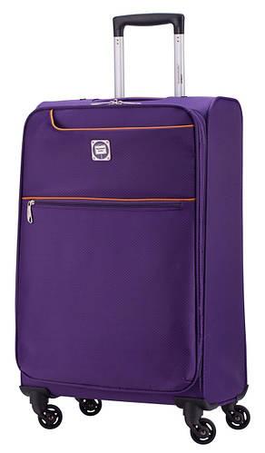 Тканевый дорожный большой чемодан 88 л. HAUPTSTADTKOFFER mitte lite maxi+ lila лиловый