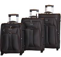 Удобный чемодан на колесах тройка