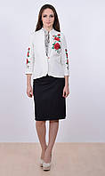 Нежный, деликатный пиджак с красивой вышивкой