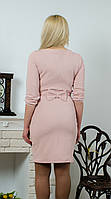 Платье с бантом персик, фото 1