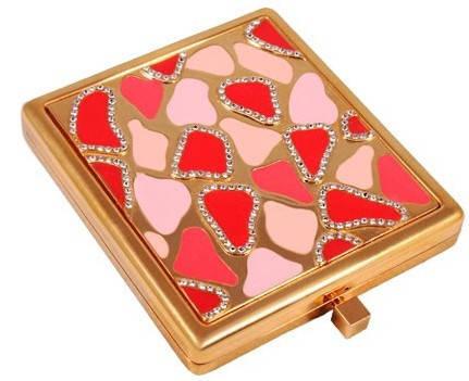 Красивое карманное зеркальце Jardin D'ete 98-0432 золотистый