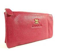 Клатч-кошелек женский малиновый Chanel 009