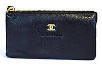 Клатч-кошелек женский синий Chanel 009
