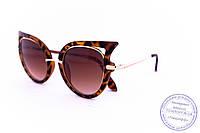 Модные женские солнцезащитные очки Кошачий глаз - Леопардовые - 228