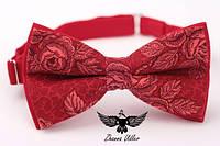 Галстук бабочка красные розы