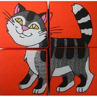 Набор мягких кубиков Домашние животные ТМ Розумна іграшка
