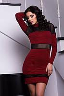 Женское платье трикотаж сетка , фото 1