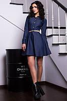 Женское строгое платье джинс