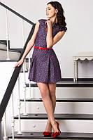 Женское платье джинс цветы , фото 1