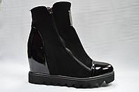 Черные   ботинки   на танкетке. Украина.