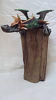 Статуэтка дракон крылатый на дереве высота 40см