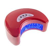 УФ LED лампа светодиодная J.H.K. 6036, таймер 30 60 и 90 сек,цвет красный