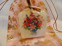 """Мыло с картинкой """"Букет цветов"""""""