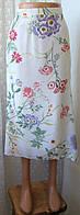 Юбка женская легкая летняя в цветах бренд Sommermann р.46-48 5417