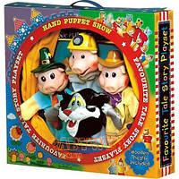 Три поросенка (4 большие куклы и деревянный кукольный театр)