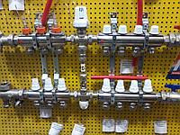 Коллектор теплого пола на 5 контуров icma в сборе