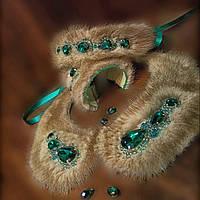 Комплект меховой (воротничек,ободок, браслет)