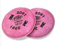 Фильтр для респиратора 3М 2091 (Класс защиты P3)