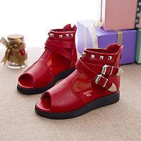 Детские туфли открытый носок