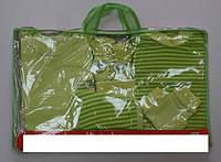 Комплект одежды подарочный для новорожденного в роддом на выпискy салатовый