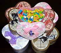 Жвачка Love is ассорти 50 шт в подарочной упаковке