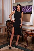 Платье женское черное С накидкой