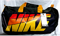 Сумка для спортзала  NIKE черная с желтой надписью
